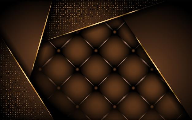 Luxurious dark brown background design Premium Vector
