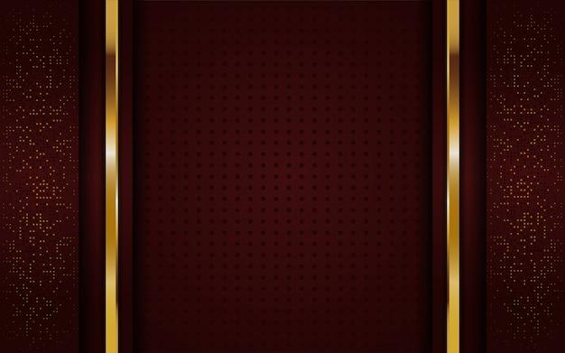 Luxurious elegant golden brown background Premium Vector