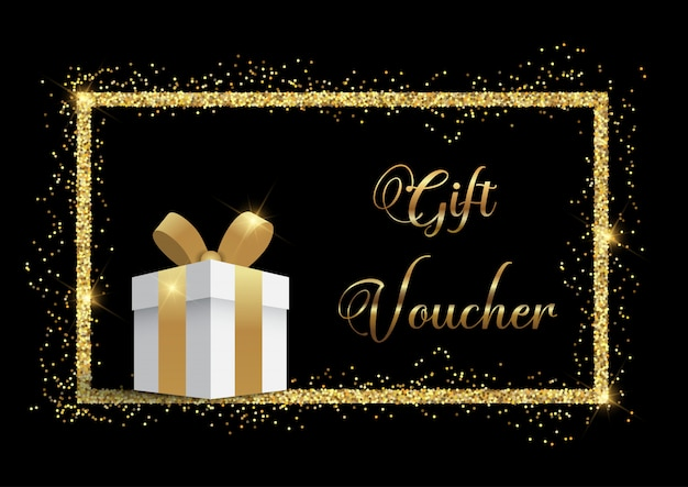 Luxurious gift voucher Free Vector