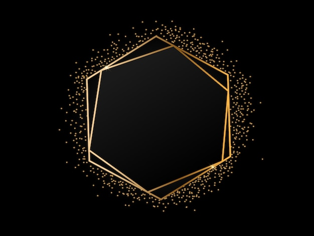 Luxurious golden frame background Premium Vector