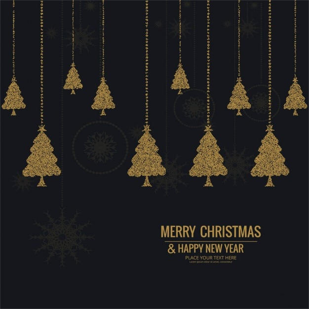 Luxurious Christmas Trees: Luxurious Hanging Christmas Trees Vector