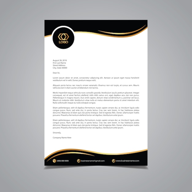 Luxurious letterhead template Premium Vector