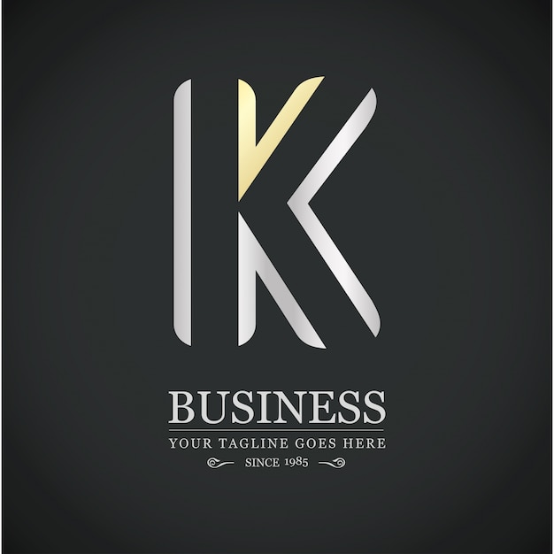 Luxurious logo with letter k Free Vector