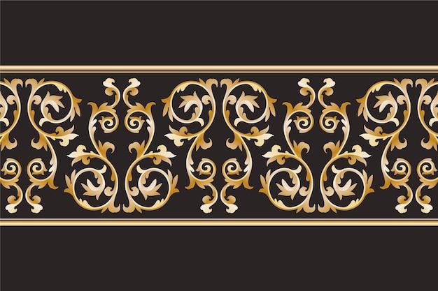 Luxurious ornamental border Free Vector