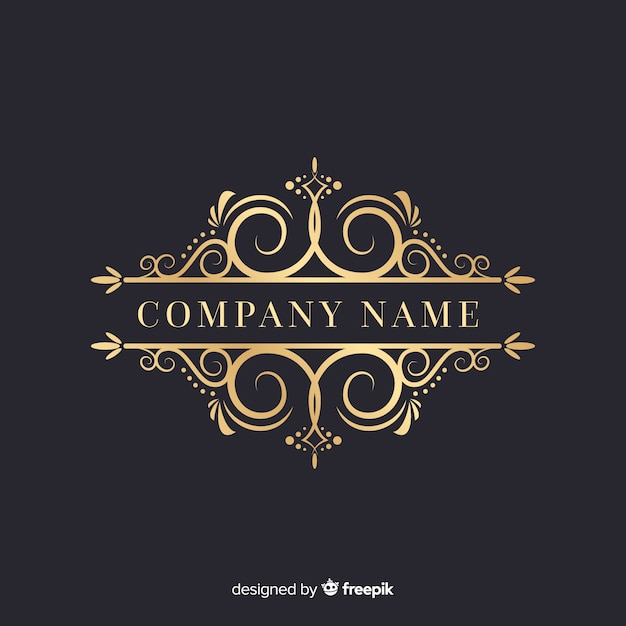 Luxurious ornamental logo with company name Free Vector