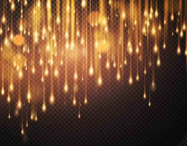 Роскошный сверкающий фон с блестящими блестками. размытие движения боке фон. Premium векторы