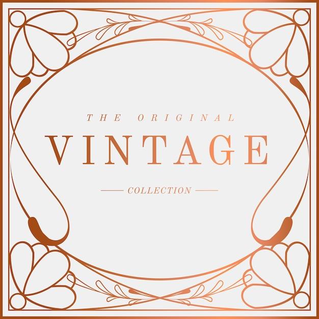 Luxurious vintage art nouveau badge vector Free Vector