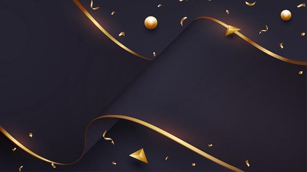 Luxurious wave paper background. Premium Vector