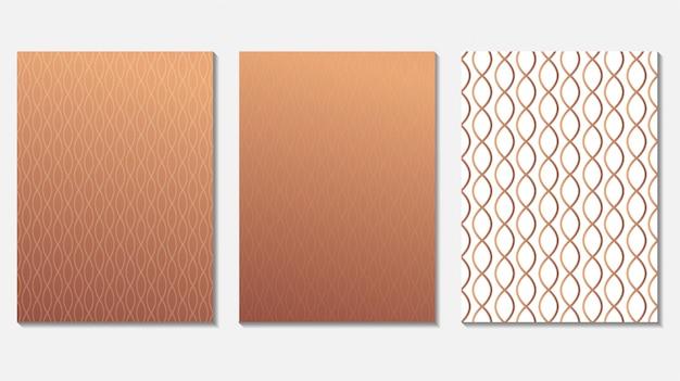 Роскошная абстрактная крышка из розового золота Premium векторы