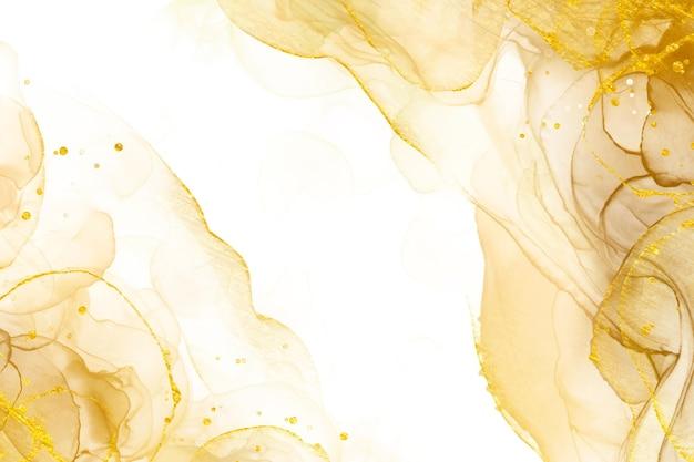 Fondo oro astratto di lusso con elementi lucidi Vettore gratuito