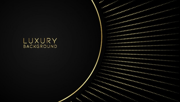 Luxury abstract golden background Premium Vector