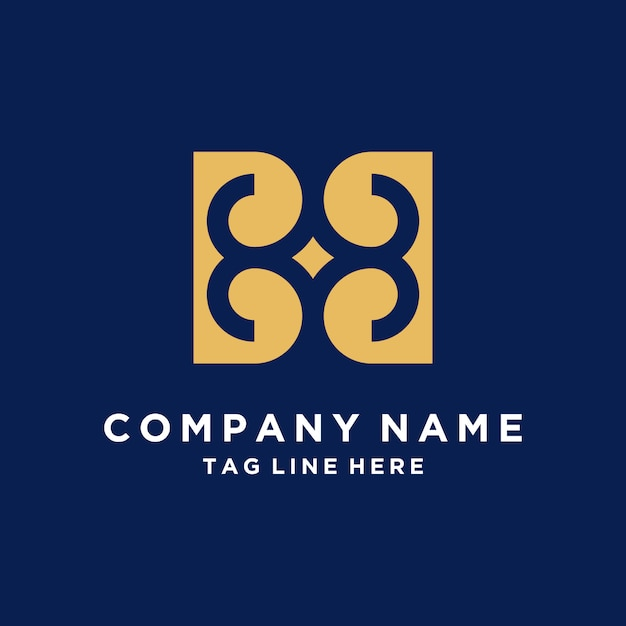 Luxury abstract logo from letter b Premium Vector