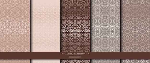 Luxury arabesque pattern collection Premium Vector