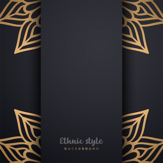 Luxury arabic style design Free Vector