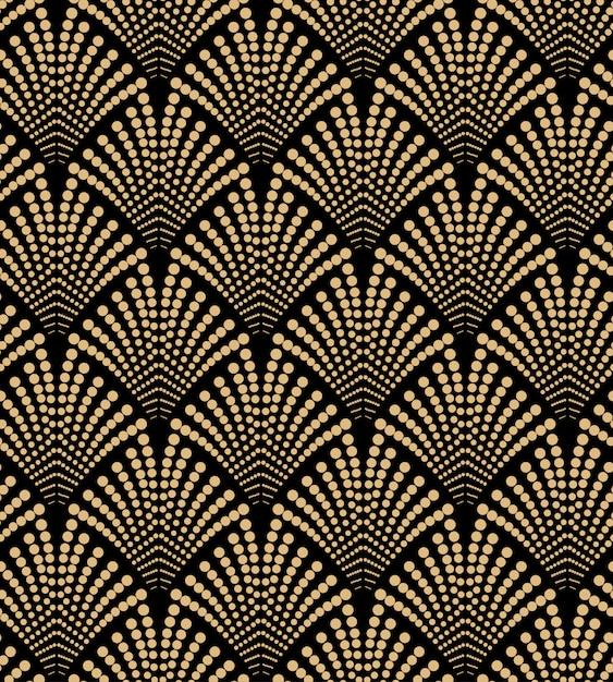 Luxury art deco seamless pattern design Premium Vector