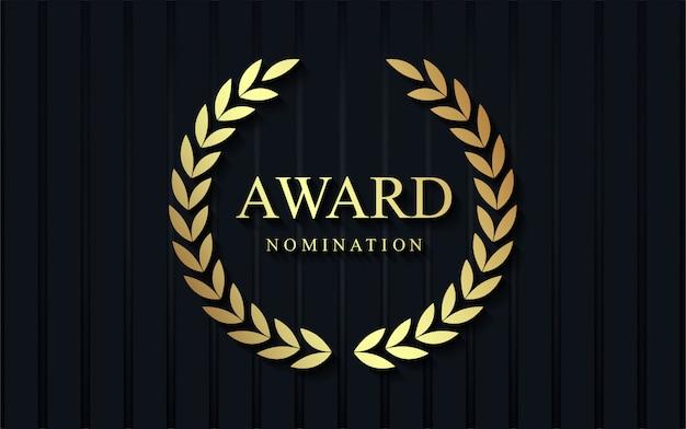 Luxury award nomination background. Premium Vector