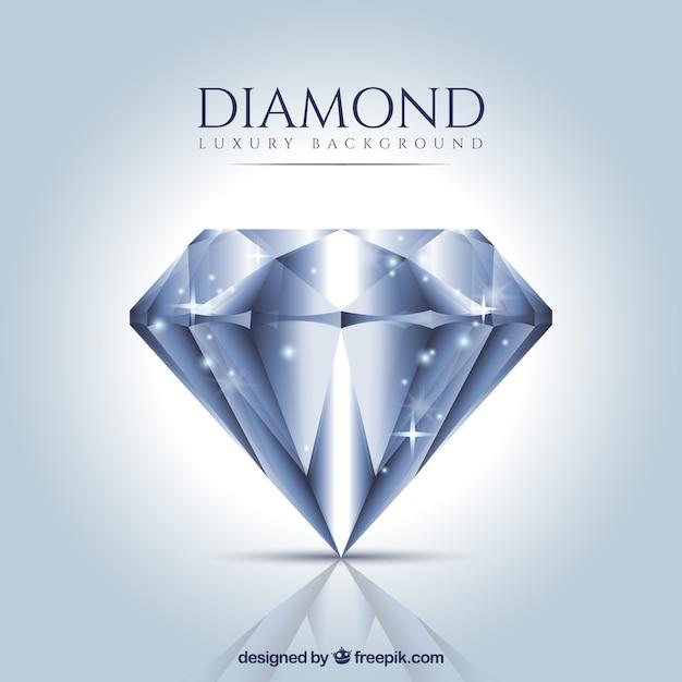Luxury background of realistic diamond Free Vector
