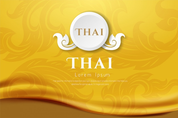 Luxury background, thai traditional concept the arts of thailan. Premium Vector