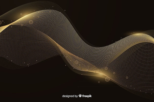 Luxury background with abstract golden wave Free Vector