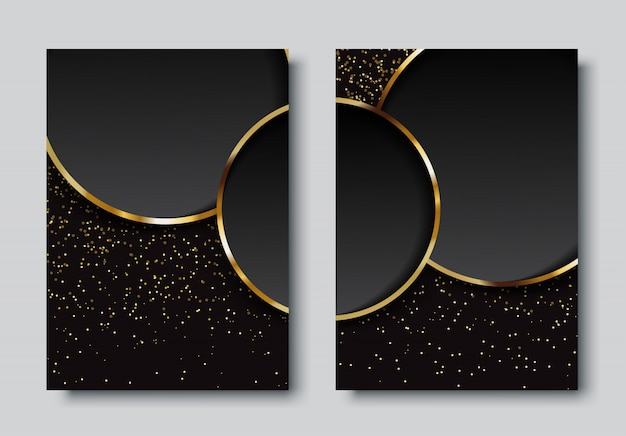 Luxury background with circles set Premium Vector