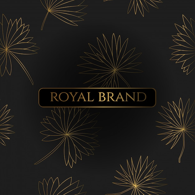 Luxury background with gold color Premium Vector