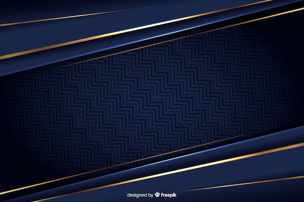Luxury background with golden abstract shapes Free Vector