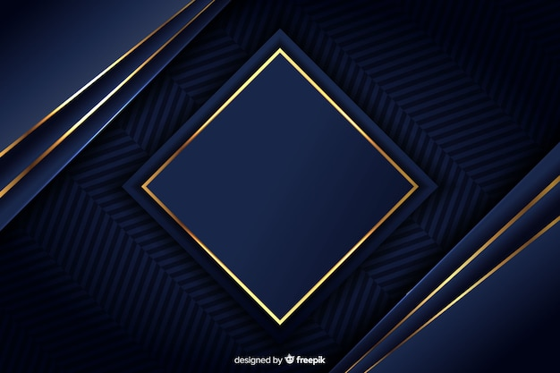 Luxury background with golden geometric shapes Free Vector