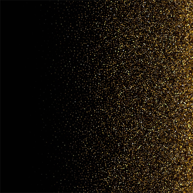 Luxury background with golden particles background Free Vector