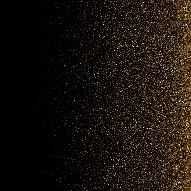 Sfondo di lusso con sfondo di particelle d'oro Vettore gratuito