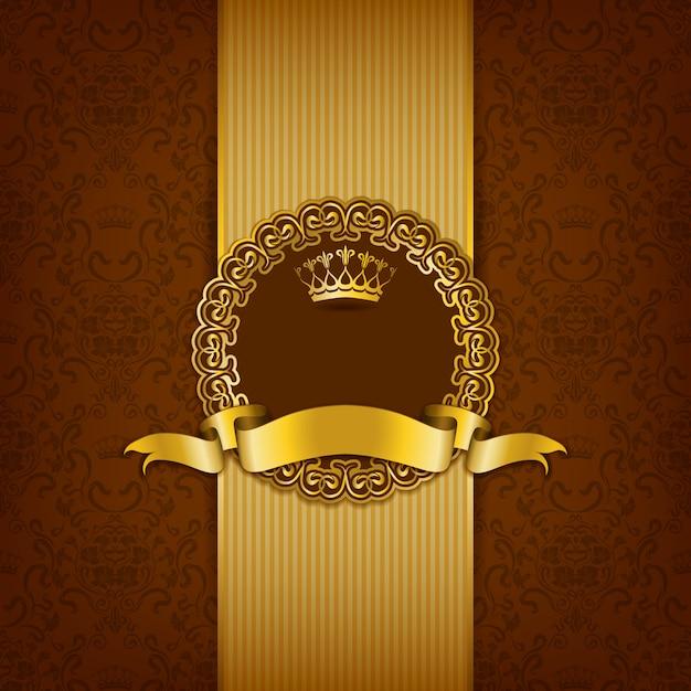 Luxury background with ornament Premium Vector
