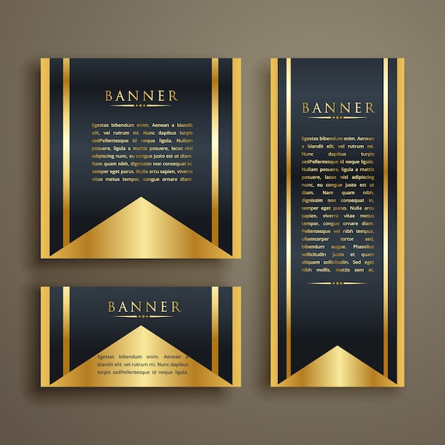 Luxury banner design with text vector free download - Text banner design ...