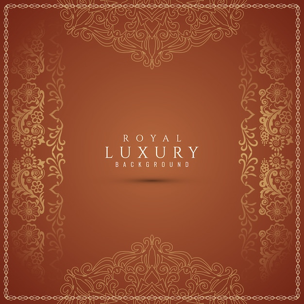 Luxury beautiful decorative brown background Free Vector