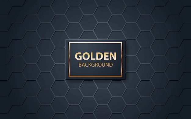Luxury black background with polygonal pattern Premium Vector