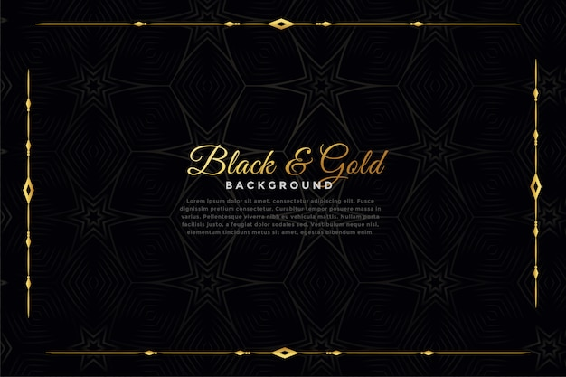 Luxury black and gold ornamental background Free Vector