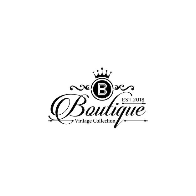 Шаблоны логотипов luxury boutique Premium векторы