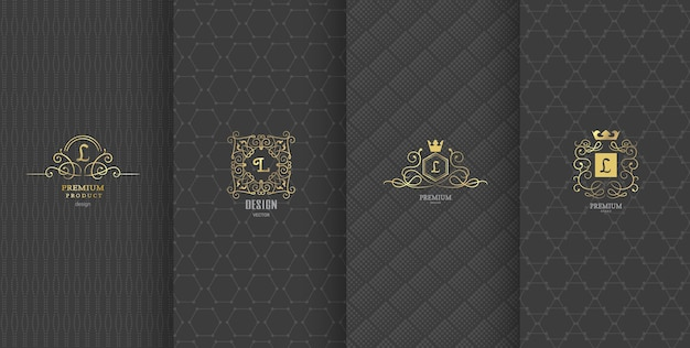Luxury brand design for packaging Premium Vector