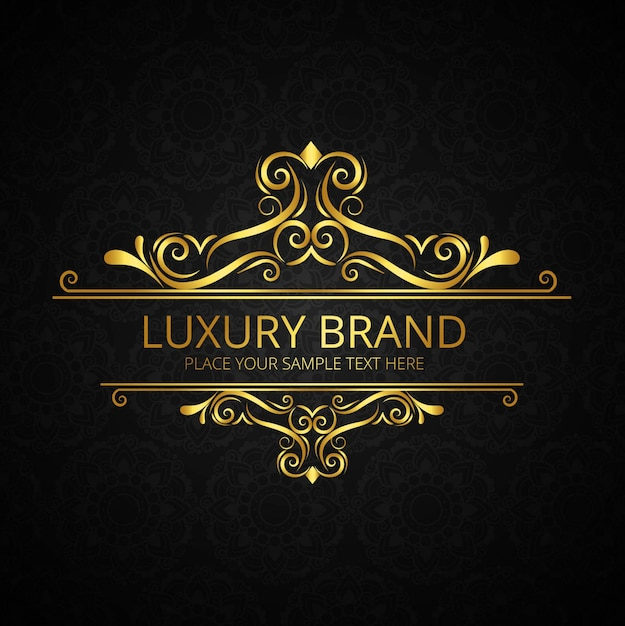 Luxury brand design Free Vector