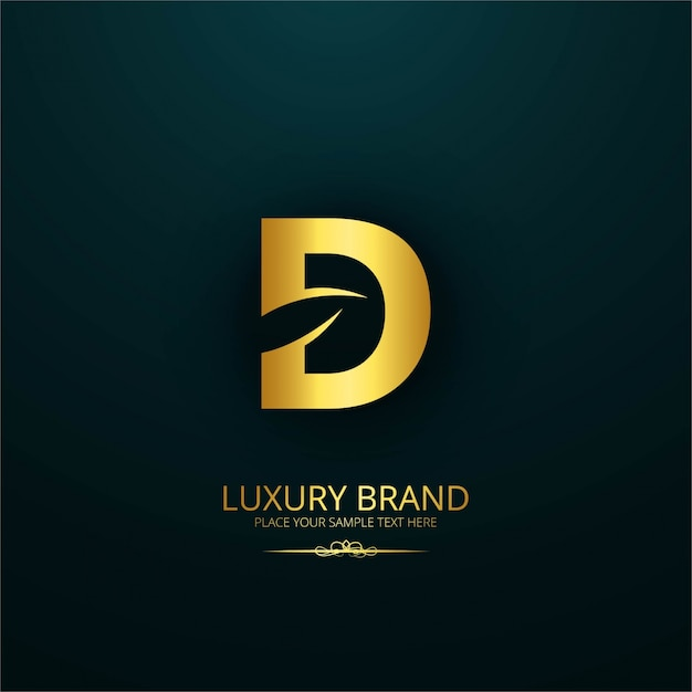Luxury Brand Letter D Design Free Vector