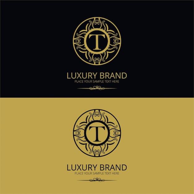 Luxury brand letter t logo Free Vector