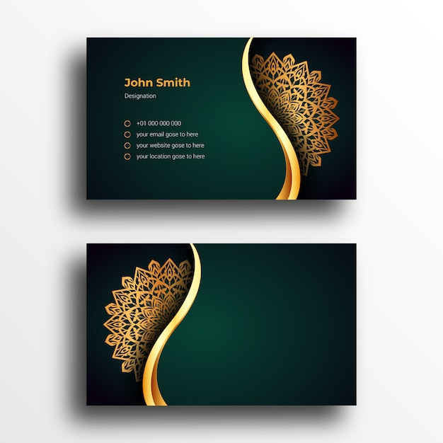 luxury business card design template with luxury