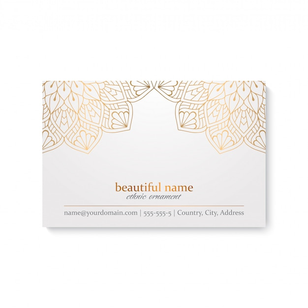 Luxury business card design Free Vector