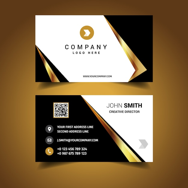 Luxury business card design vector free download for How to make business cards online