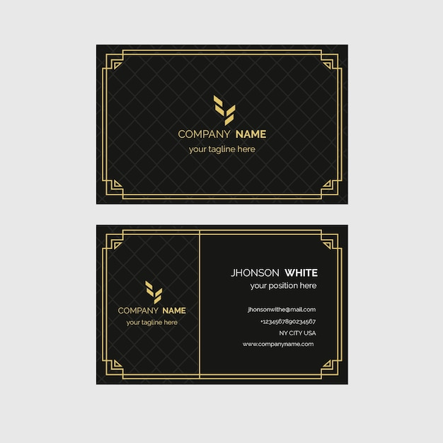 Luxury business card template Free Vector