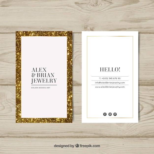 Luxury business card with golden frame vector free download luxury business card with golden frame free vector reheart Gallery
