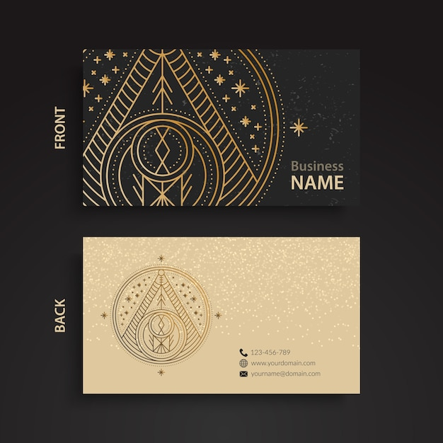 Luxury business card with triangle design vector free download luxury business card with triangle design free vector reheart Choice Image
