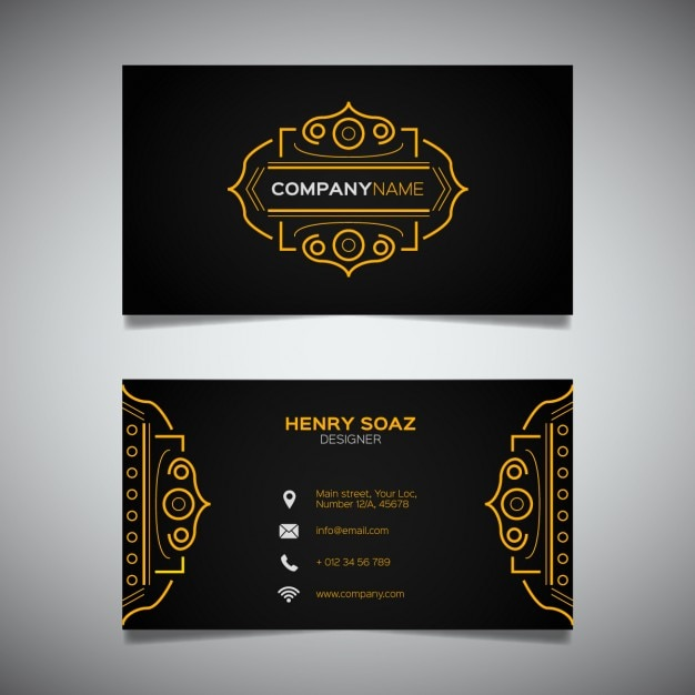 Luxury business card Free Vector
