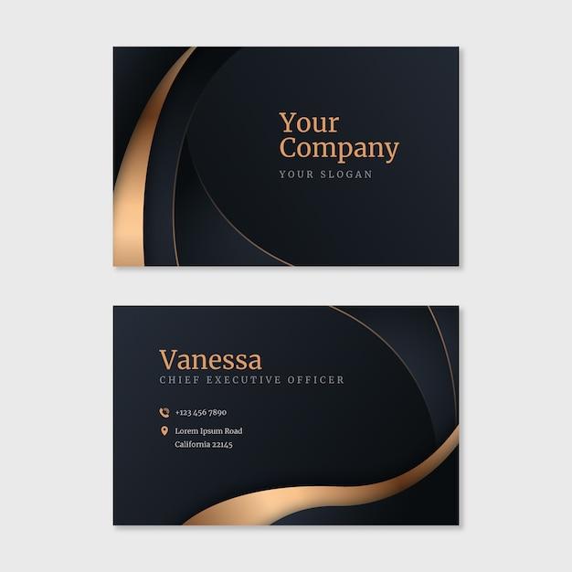 Luxury business card Premium Vector