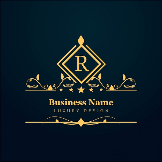 luxury business logo with ornaments vector free download
