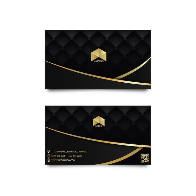 Luxury card gold Premium Vector