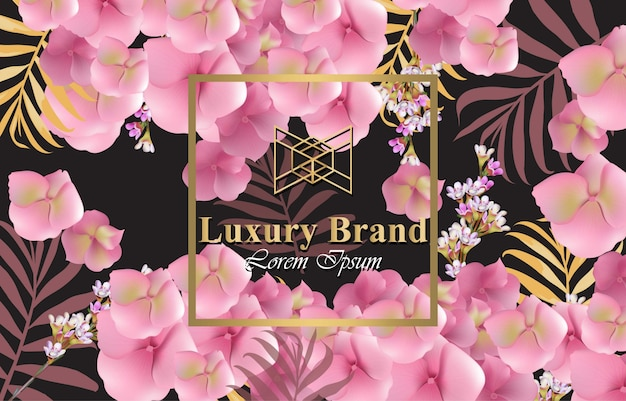 Luxury card with delicate flowers vector beautiful illustration for luxury card with delicate flowers vector beautiful illustration for brand book business card or reheart Image collections